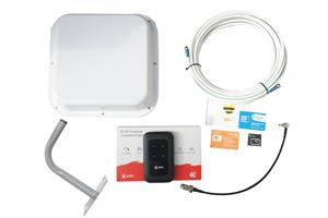 Комплект оборудования для доступа к интернету (антенна, WI-FI роутер, сим карта, кабельная сборка, пигтейл, кронштейн)